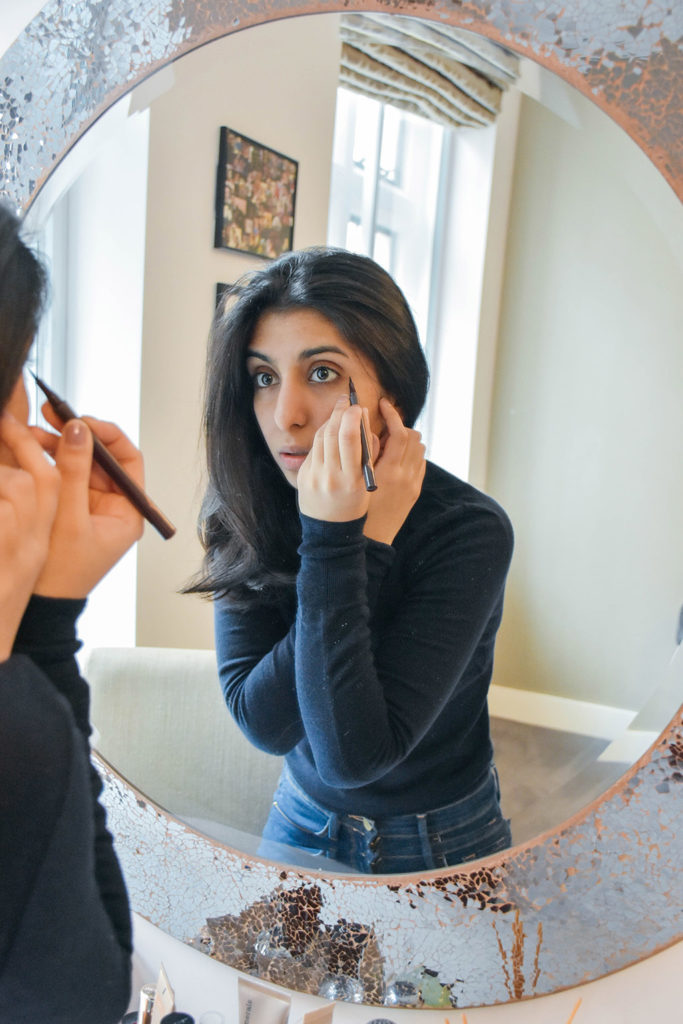 Fashion and beauty blogger Shloka Narang showcases how to perfect winged eyeliner