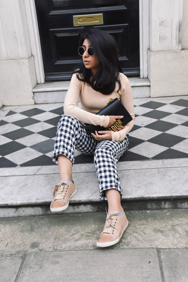 Fashion blogger Shloka Narang of The Silk Sneaker showcases how to wear gingham this season in her three part series on how to style gingham