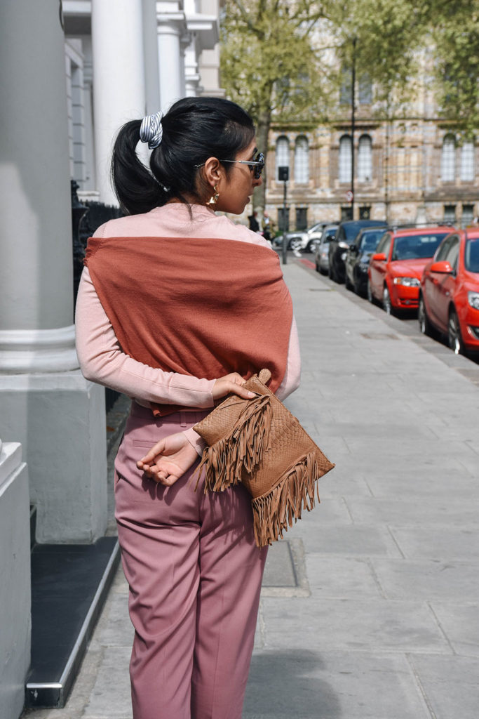 Indian fashion blogger Shloka Narang showcases how to wear pink this spring 2017 the street style way featuring Uniqlo and Topshpo