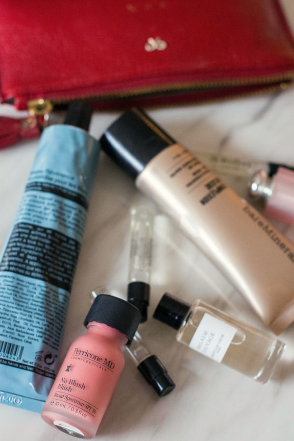 Fashion blogger Shloka Narang of The Silk Sneaker showcases her favourite in flight beauty products