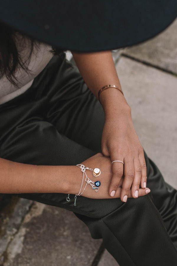 Fashion blogger Shloka Narang of The Silk Sneaker showcases how to personalise jewellery and stack bracelets with Thomas Sabo