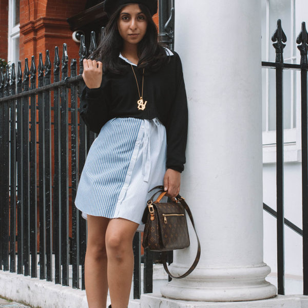 Fashion blogger Shloka Narang of The Silk Sneaker shares her transitional dressing outfit inspiration and tips featuring Topshop and Wolford