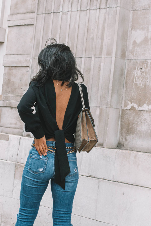 Fashion blogger Shloka Narang of The Silk Sneaker showcases the best top you need for summer to autumn transitional dressing