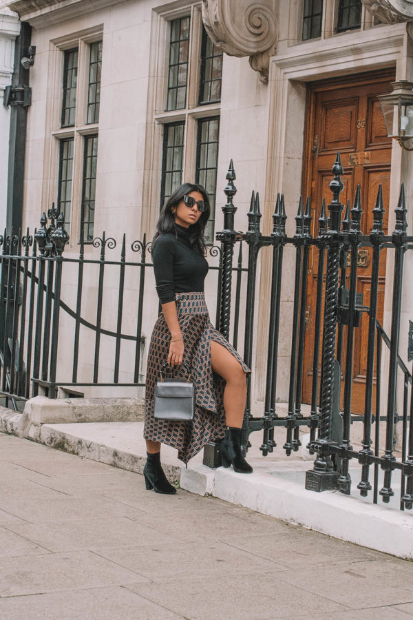 Fashion blogger Shloka Narang of The Silk Sneaker shares her favourite new Zara find and how to style a midi skirt for autumn