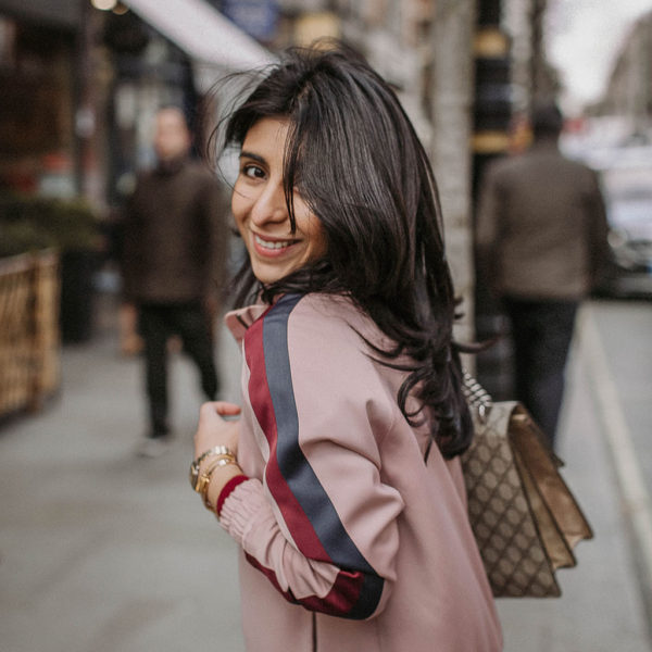 Fashion blogger Shloka Narang of The Silk Sneaker shares how to style the bomber jacket for 2018 featuring Topshop, Maje and Gucci