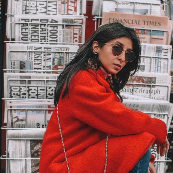 Fashion blogger Shloka Narang of The Silk Sneaker shares how to look stylish and stay warm during winter featuring Topshop, Joe's Jeans and Chloe