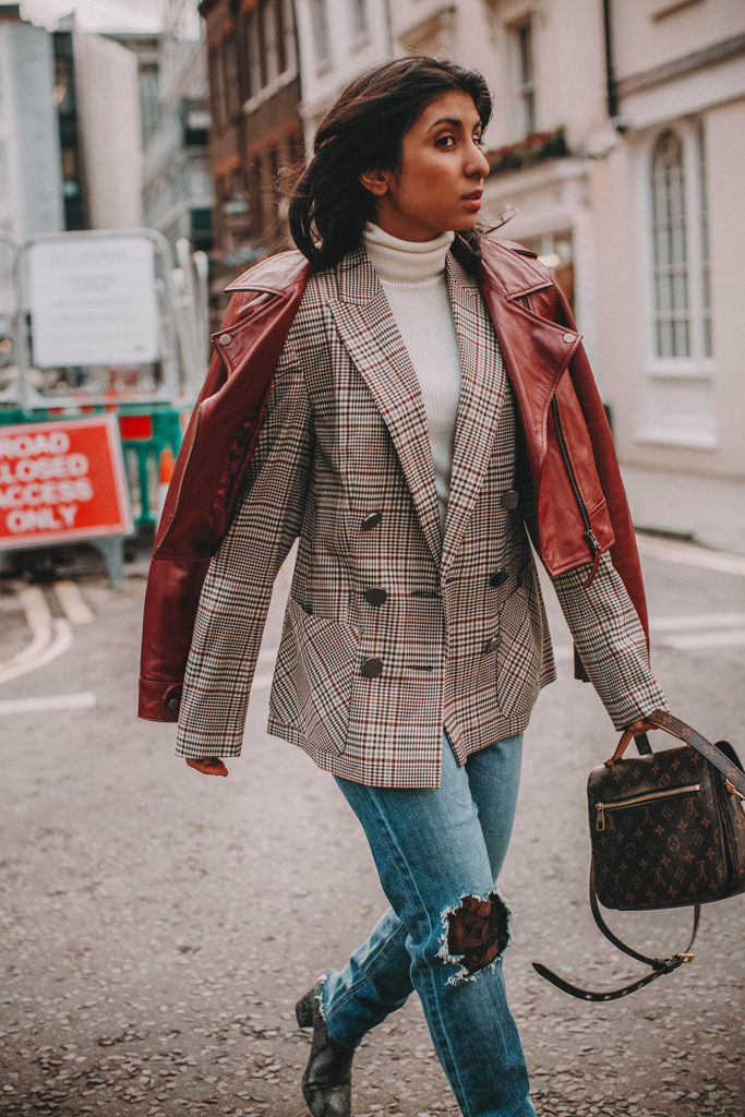 fashion blogger Shloka Narang of The Silk Sneaker showcases how to start the new year in style with her 2018 style resolutions featuring amazon fashion, joe's jeans and louis vuittonf