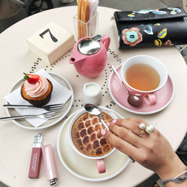 Fashion blogger Shloka Narang of The Silk Sneaker showcases some of the most Instagrammable cafes in London