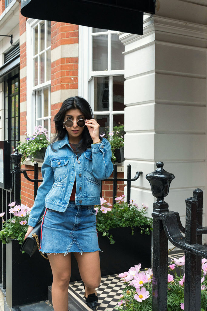 81c76e7db2 Fashion Blogger Shloka Narang shows how to elevate double denim with  embroidered denim