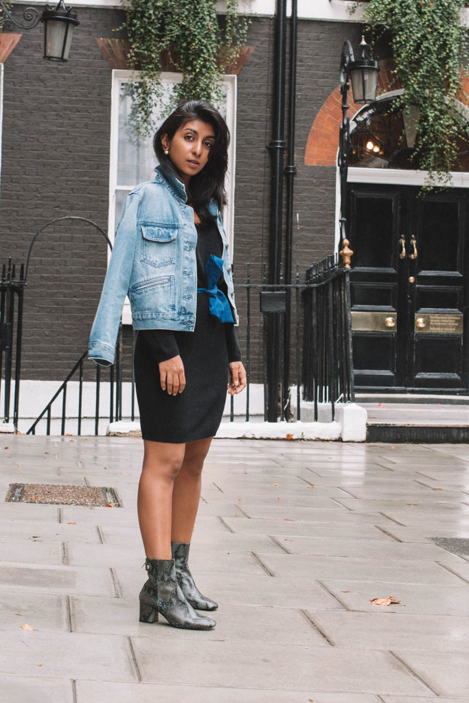 452691c9e92a Fashion blogger Shloka Narang of The Silk Sneaker shares how to refresh  your sweater dress for