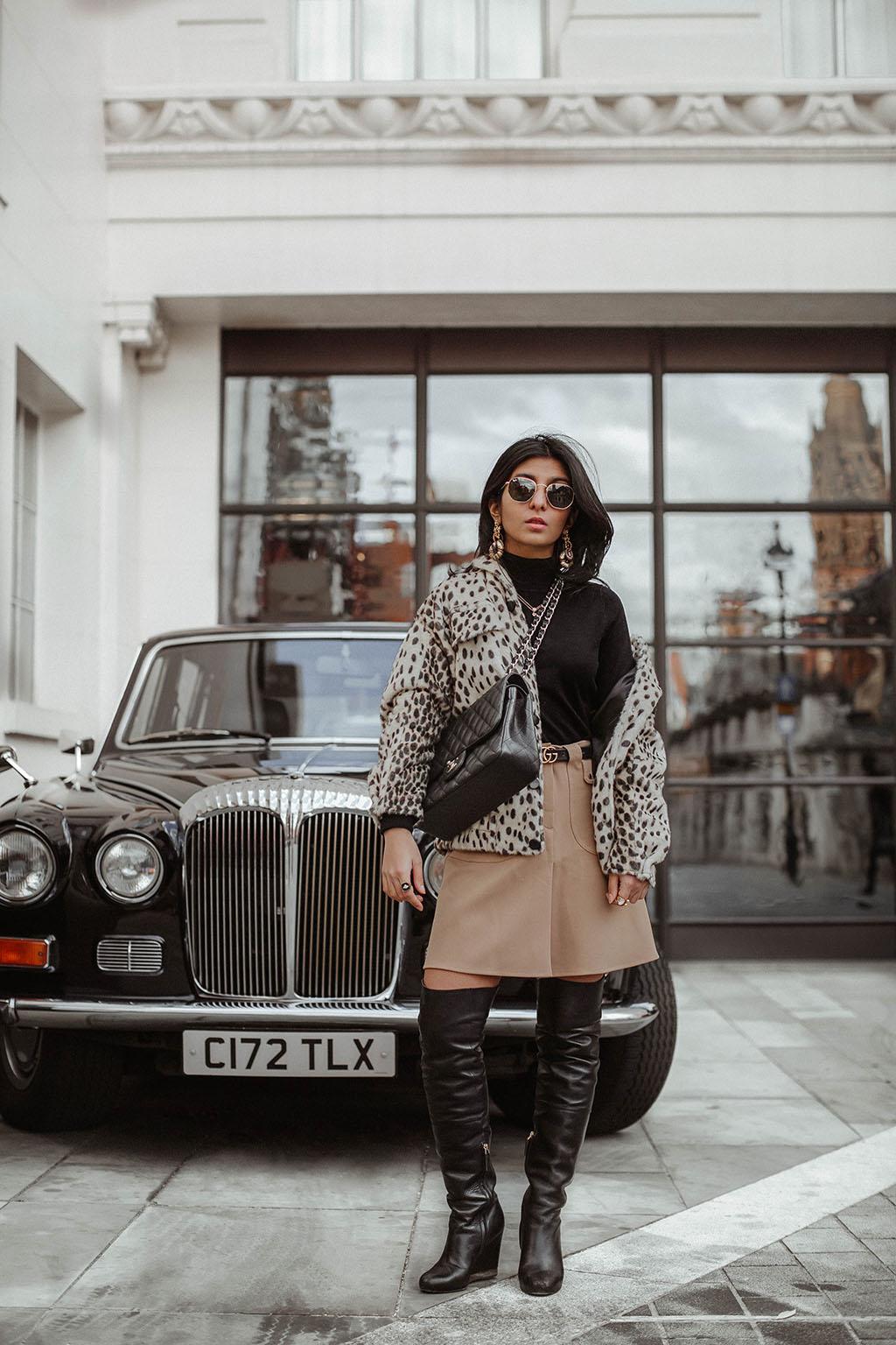 1e91462a346798 Fashion blogger Shloka Narang of The Silk Sneaker shares how to style a leopard  print coat
