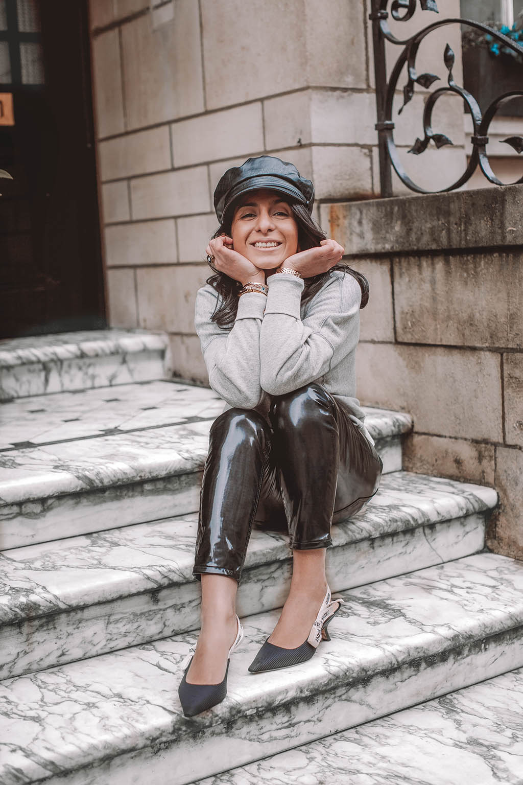 eb24d02e7 Fashion blogger Shloka Narang of The Silk Sneaker shares how to style a  vinyl trousers outfit