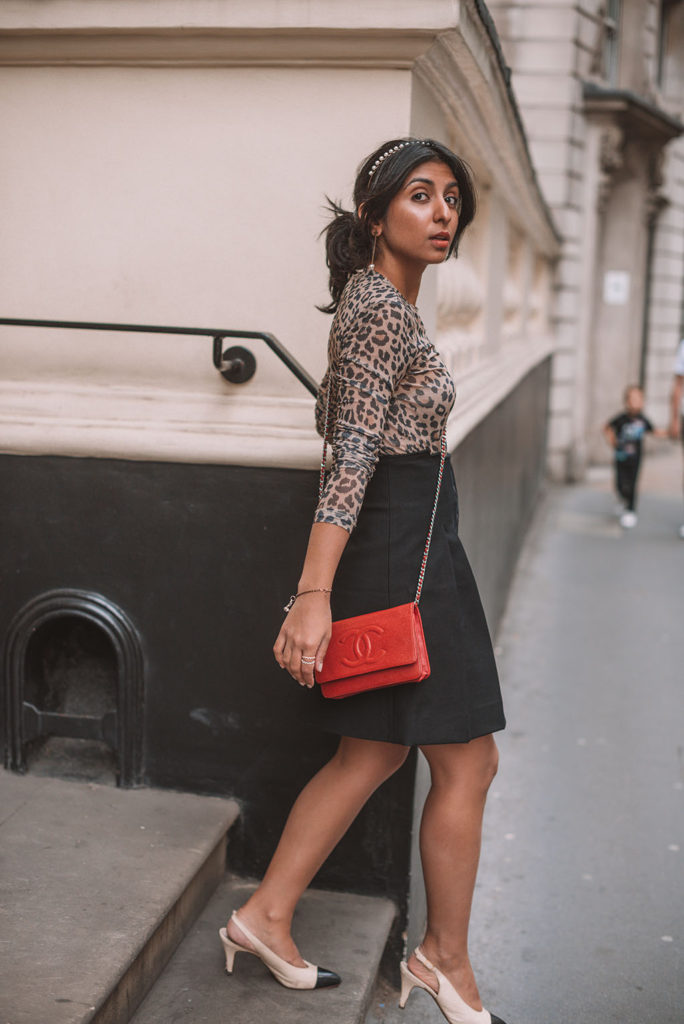 6b9da77e5bce9f Luxury fashion blogger Shloka Narang of The Silk Sneaker shares how to make  a leopard print