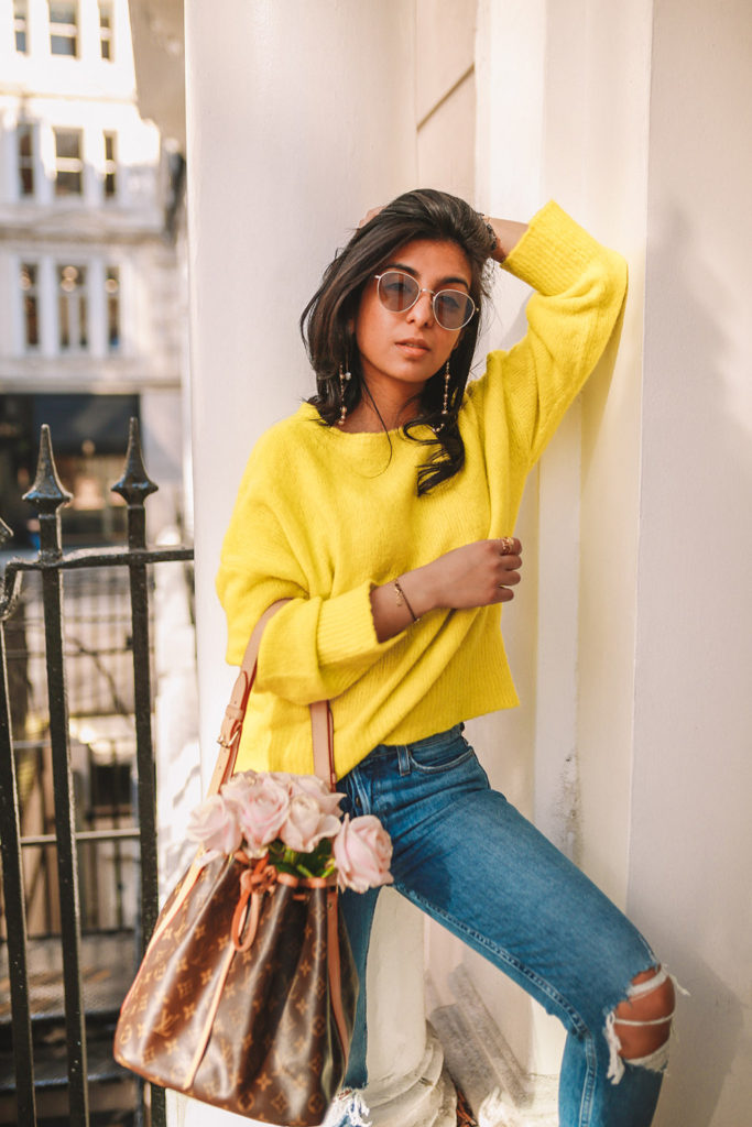 19c810c7 Luxury fashion blogger Shloka Narang of The Silk Sneaker shares how to wear  neon in a